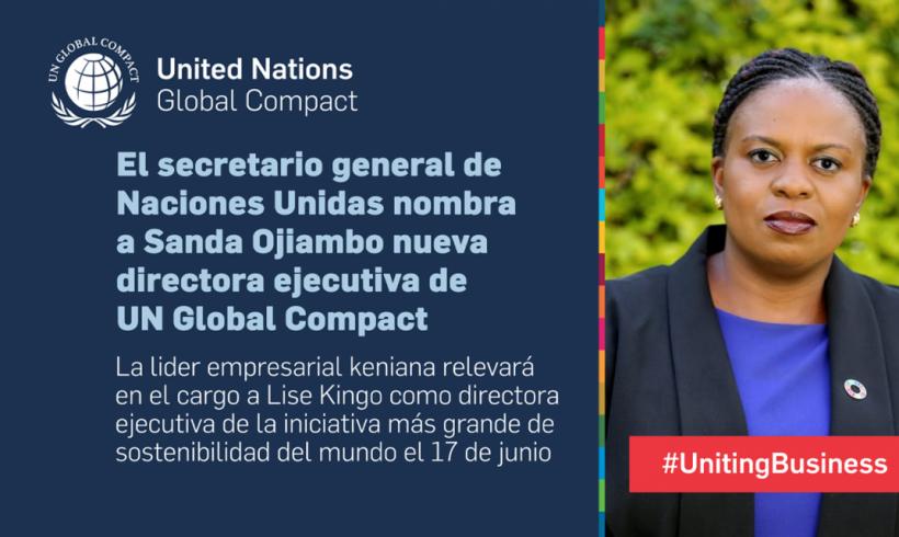 Sanda Ojiambo, es nombrada nueva directora ejecutiva de UN Global Compact