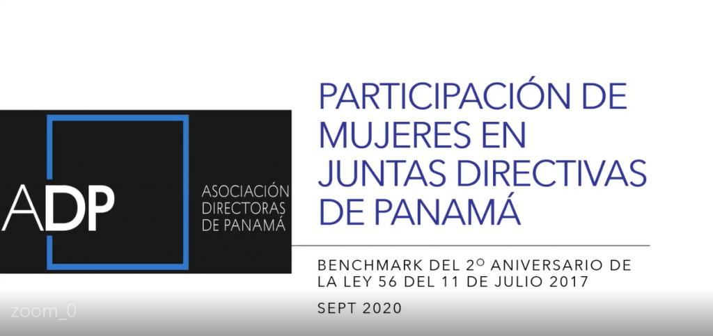 Informe de actualización sobre Paridad de Género en Juntas Directivas en Panamá