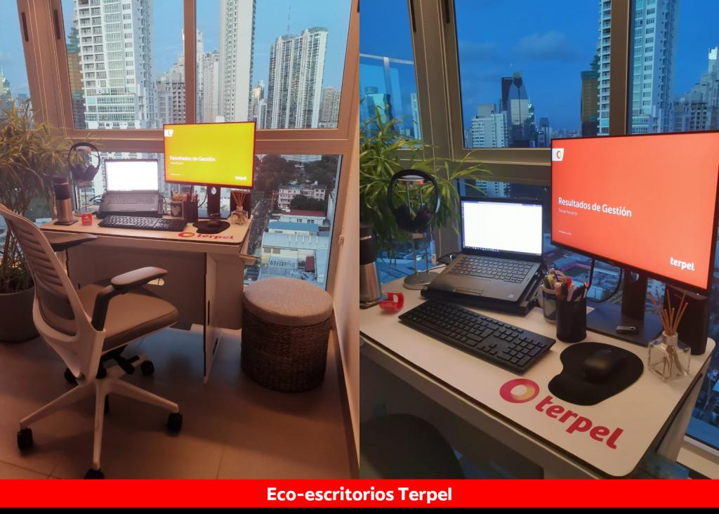 Eco-escritorios Terpel: una experiencia memorable para sus colaboradores en teletrabajo