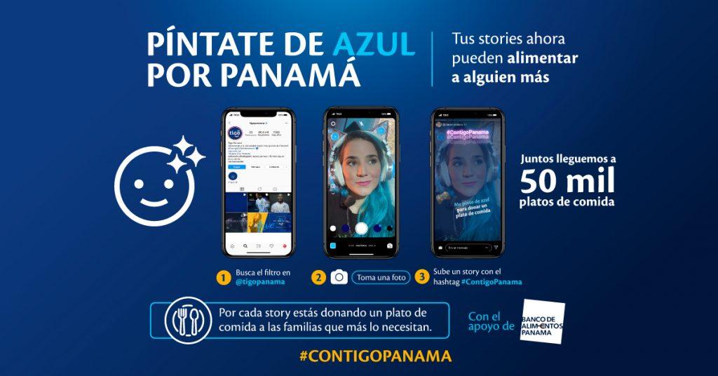 Tigo te invita a pintarte de azul por Panamá