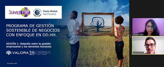 Programa de Gestión Sostenible de Negocios con enfoque en Derechos Humanos