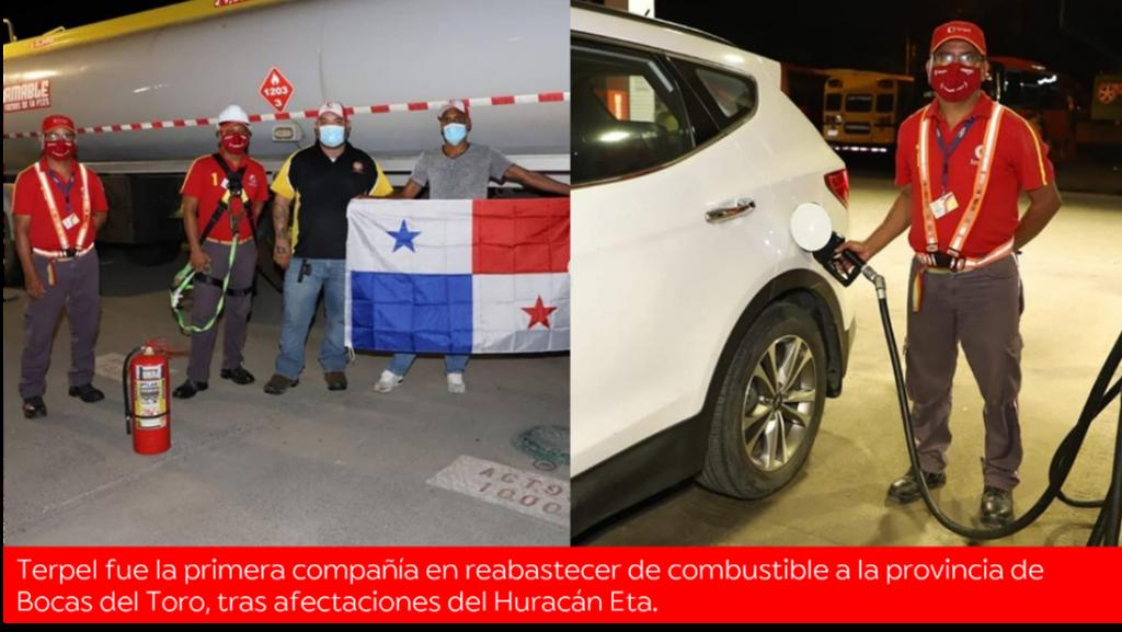 Terpel: Aliada de Bocas del Toro tras el paso del Huracán Eta