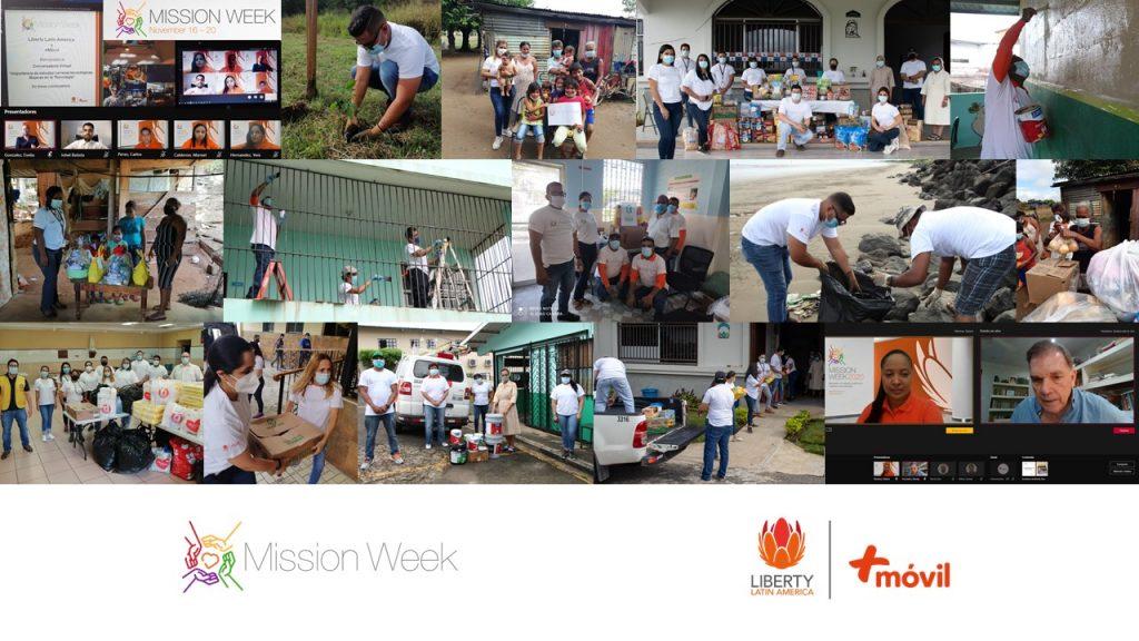 Voluntariado de +Móvil y del Centro de Operaciones de Liberty Latin America en la Semana de la Misión 2020