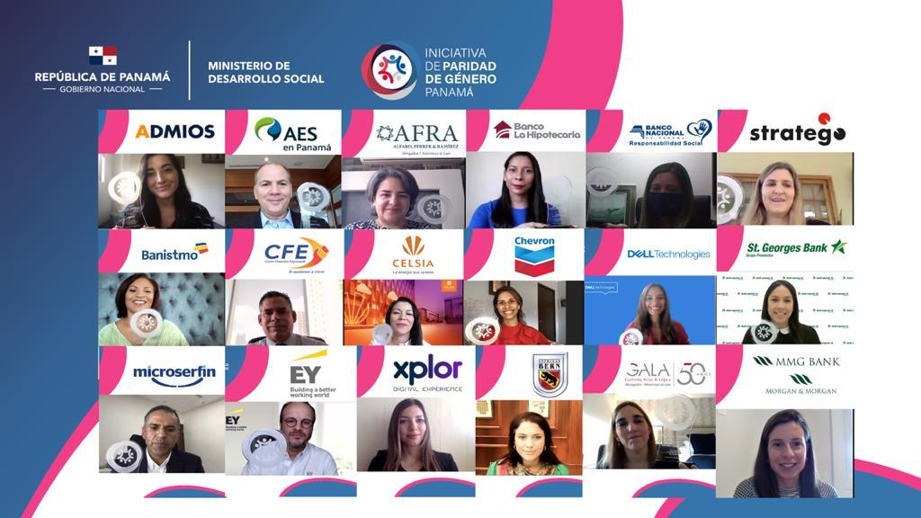 MIDES realiza reconocimiento a empresas adheridas a la Iniciativa de Paridad de Género por impulsar el cierre de brechas económicas en tiempo de pandemia