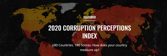 El Índice de Percepción de la Corrupción 2020 revela una corrupción generalizada está debilitando la respuesta del COVID-19, amenazando la recuperación global
