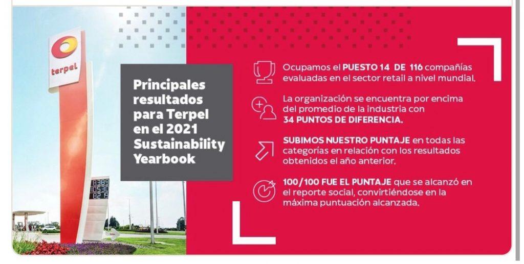 The Sustainability Yearbook 2021 reconoce a Terpel como una de las compañías más sostenibles del mundo