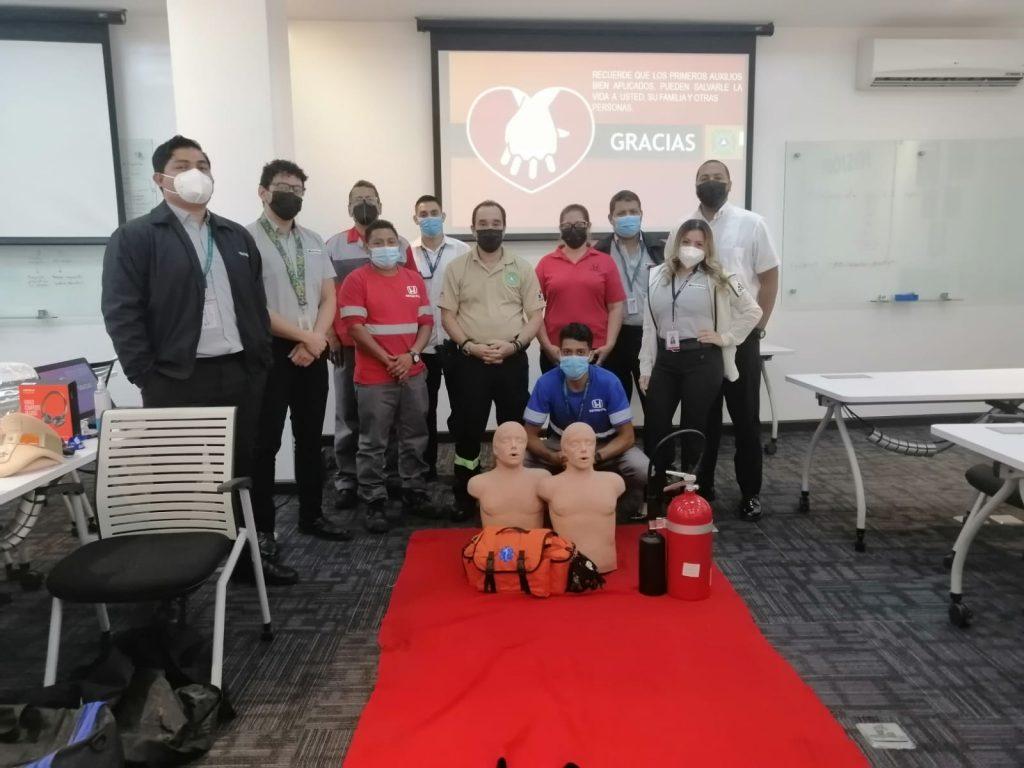 Bahia Motors inicia la renovación de capacitaciones en primeros auxilios y manejo de extintores para todo su personal en el mes de la Salud y Seguridad Laboral