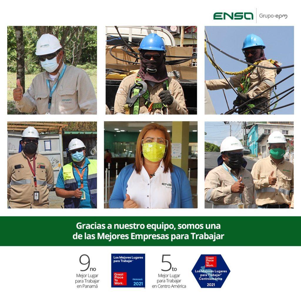ENSA se posiciona como uno de los mejores lugares para trabajar en Panamá y Centroamérica en el ranking Great Place to Work® Centroamérica & Caribe