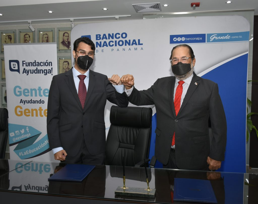 Banco Nacional de Panamá firma Acuerdo de Colaboración con Fundación Ayudinga