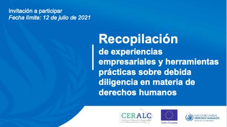 Recopilación de experiencias empresariales y herramientas prácticas sobre debida diligencia en materia de Derechos Humanos