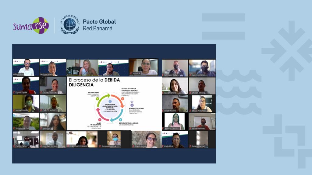 Iniciamos Taller Debida Diligencia en Derechos Humanos y ODS: Herramientas para empresa privada
