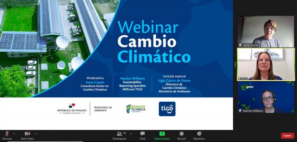 Tigo Panamá realiza conferencia virtual acerca de las NDC y la contribución del sector privado en la adaptación y mitigación del cambio climático