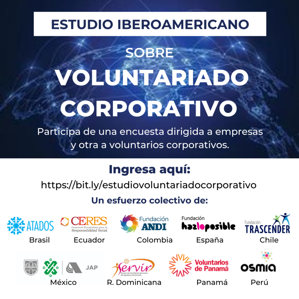 Colectivo de organizaciones lanza estudio para conocer el Estado del Voluntariado Corporativo en Iberoamérica